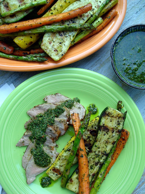Grilled Pork Tenderloin Chimichurri