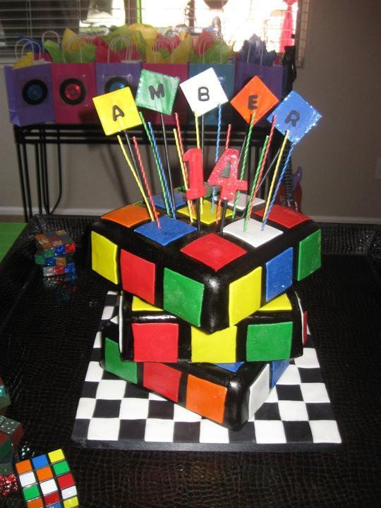Bella Cake Rubiks Cube Cake