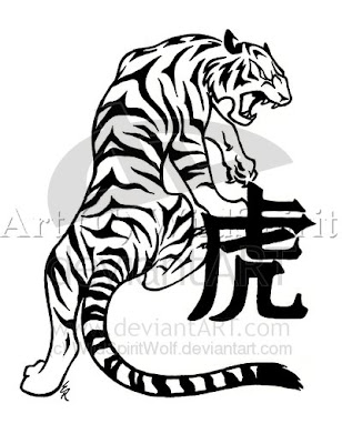 The tiger is a fierce creature.bold, brave, fast, dangerous, lovable,