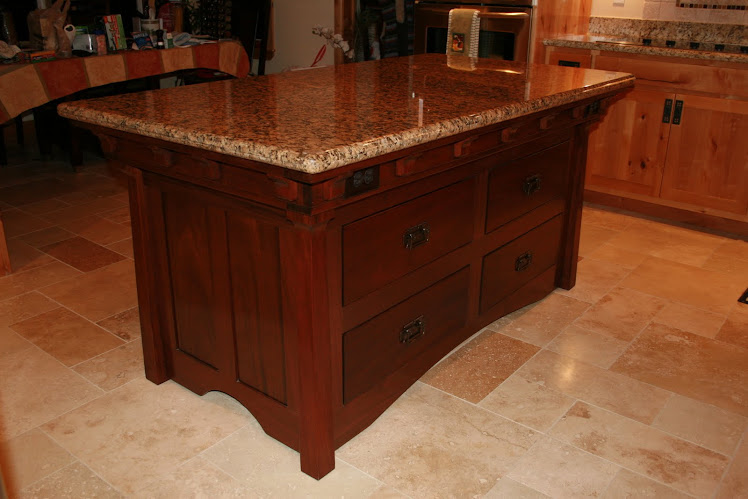Mohogany Kitchen Island