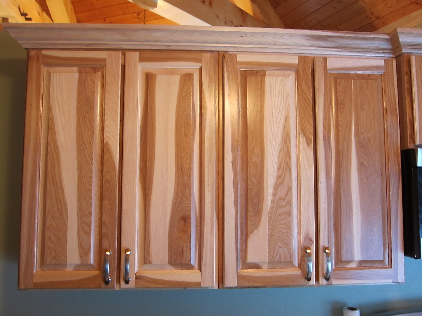 Small Kitchen with Hickory Cabinets