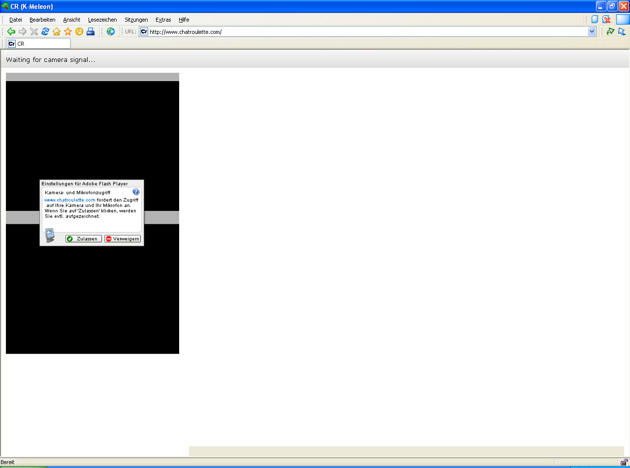 chatroulette ohne flash player