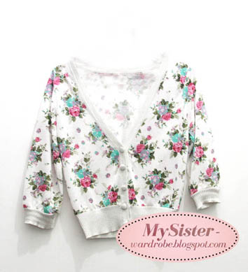 try to combine the dress with my floral cardigan.