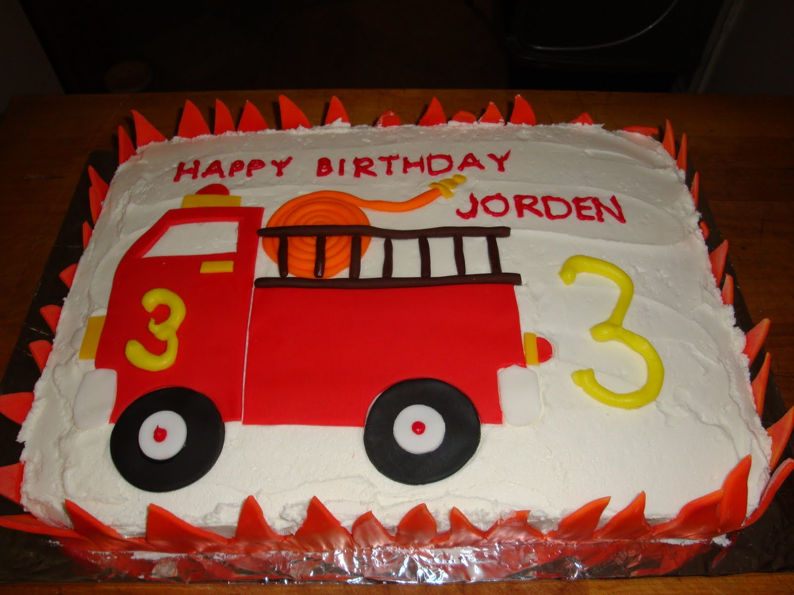 Sweet Thangs Confections Fire Truck Birthday Cake