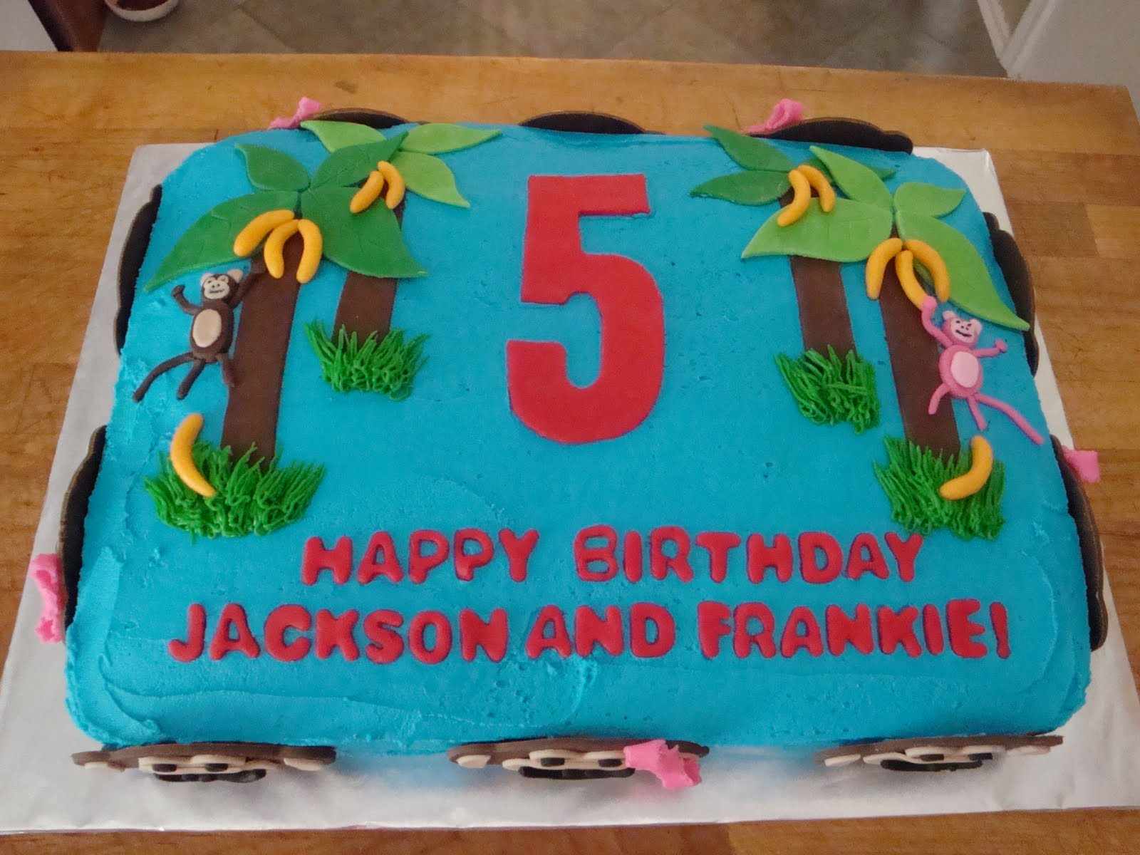 Jackson And Frankies 5th Birthday Cake
