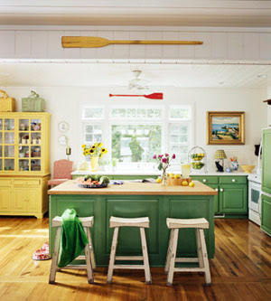 Yellow Green Kitchen : digress and here are some fantastic kitchens fantastic green kitchen