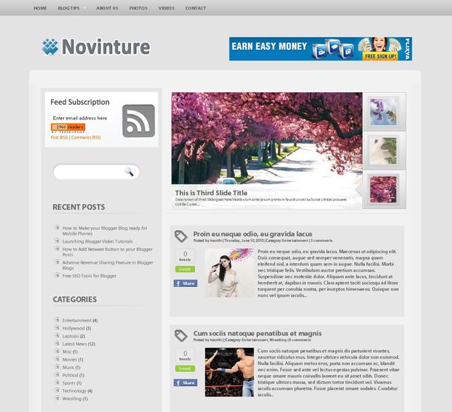 Novintrue blogger template