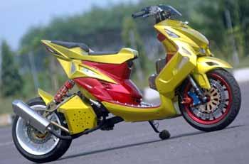 modifikasi yamaha mio super keren modifikasi west central java