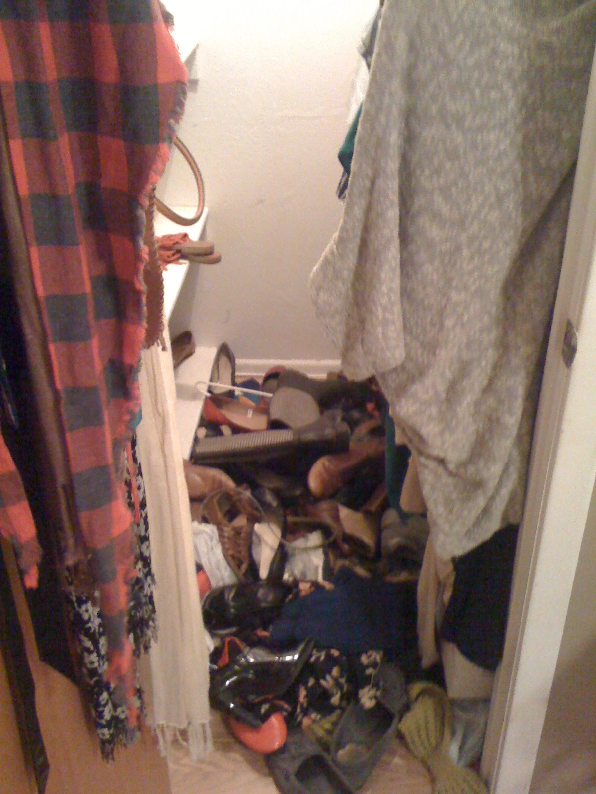 This Is What My Closet Has Looked Like At Itu0027s Very Worst. I Snapped This  Photo One Day When I Realized That I In Fact Had A Problem.