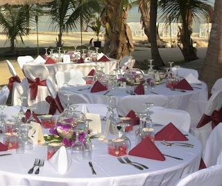 Luxury Beach Wedding Table Decorations 2011
