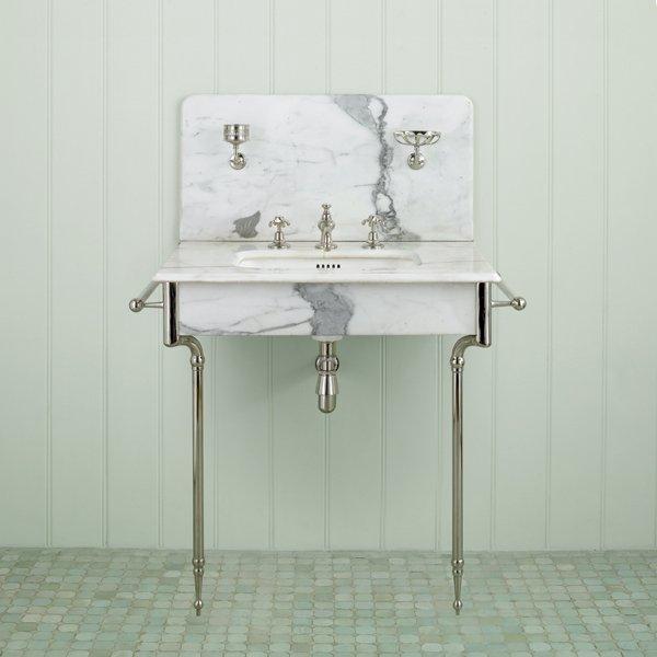 Bathroom Sink With Legs : Chrome Sink Legs http://pinterest.com/jives4/bathrooms/