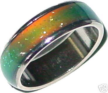 think mood rings are neat they change color depending on what mood