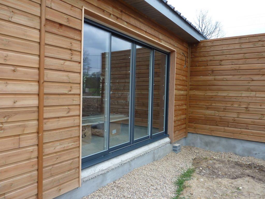 Notre maison en bois luant menuiseries ral 7016 - Peinture bois exterieur ral 7016 ...