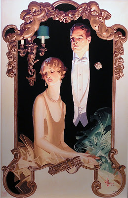 J. C. Leyendecker Fancy Man and Woman Illustration