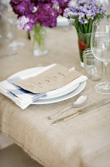 white or burlap table cloths for wedding
