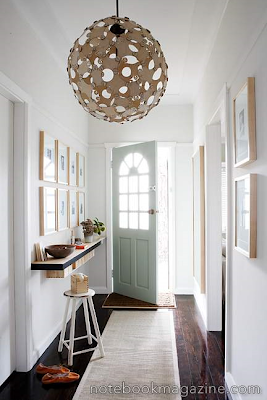 Inspiring ideas for decorating small entryways - Lamparas de entrada ...