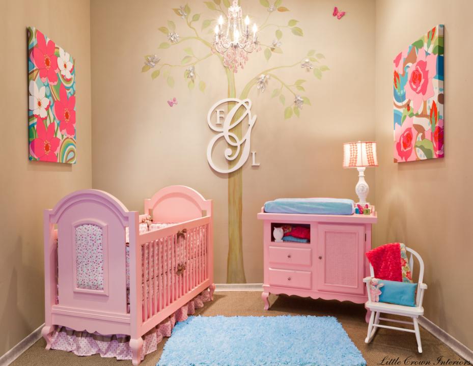 украсить детскую комнату для девочки своими руками