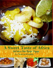 A Sweet Taste of Africa cookbook available on Amazon