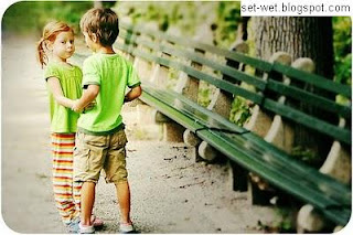sweet love, small boy girl love wallpaper