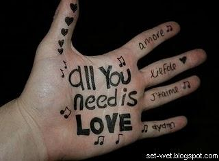 love on fingers hand, amazing love