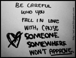 be careful in love