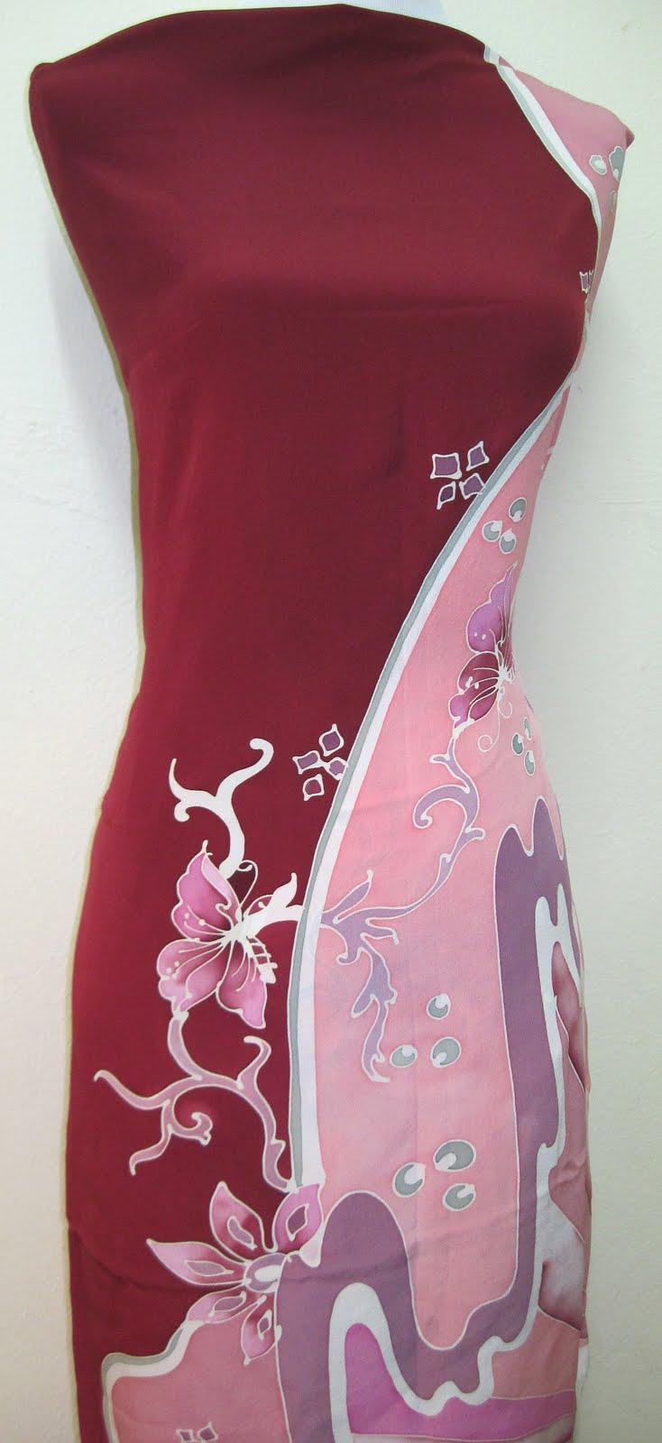 Batik Sutera Crepe Abstrak | Silky Batik Sutera Terengganu
