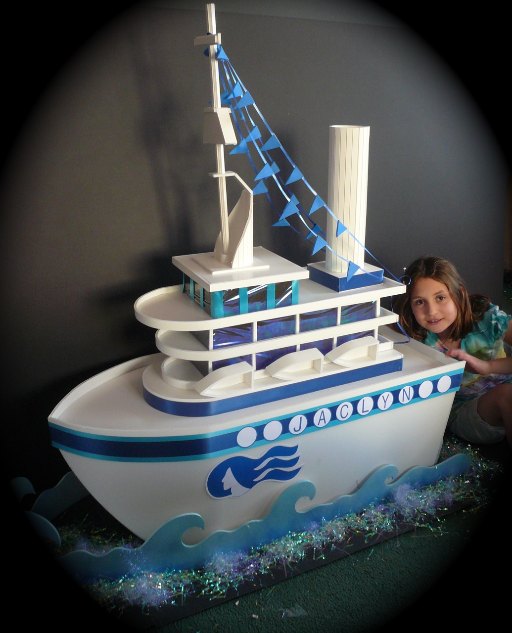 Musing With Marlyss GIFT CARD BOX Cruise Ship - Cruise ship centerpieces
