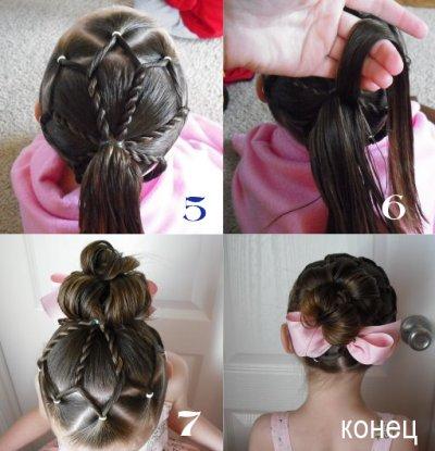 Зачіски для дівчат дитячий світ