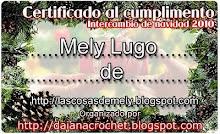 Certificado del Intercambio de navidad 2010 de Daiana