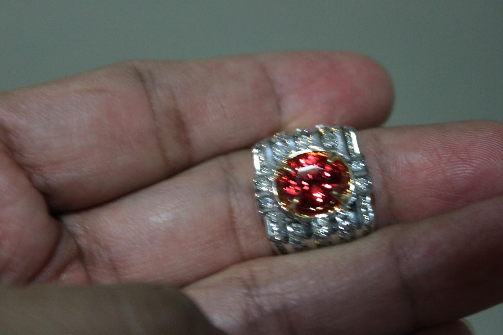 batu.berlian.bertuah.giok: cincin batu padparadscha 3.27ct ikatan emas ...