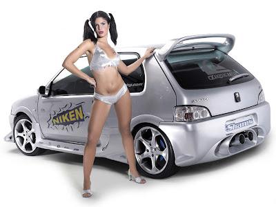 idegue-network.blogspot.com - Wow,,,,Mau Pilih Cewenya Apa Mobilnya Gan??
