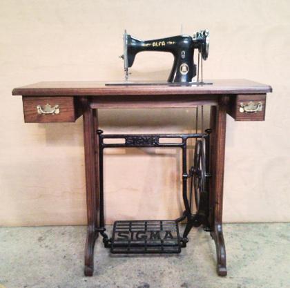 Maderland mueble para m quina de coser - Mueble para maquina de coser ...