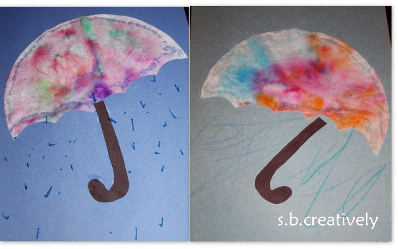 creatively: Coffee Filter Umbrella