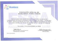 Certificado Arte-pedagógico