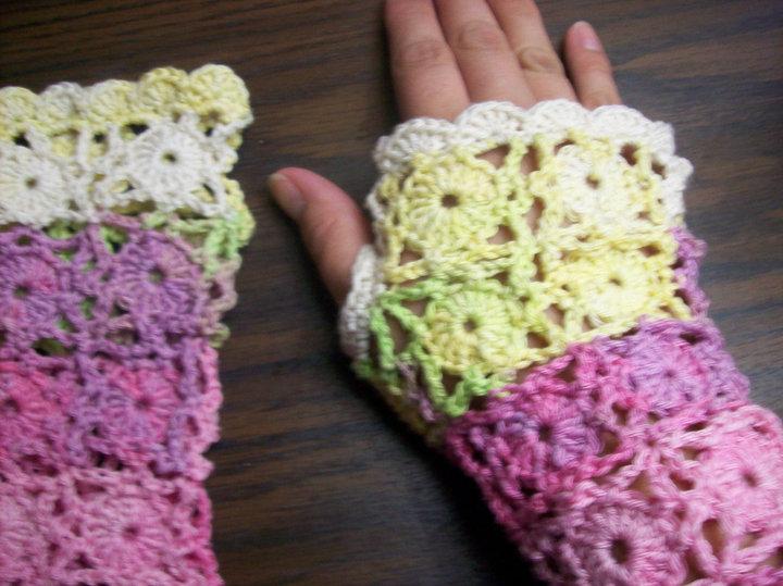 Crochet Lace Gloves - AllFreeCrochet.com - Free Crochet Patterns