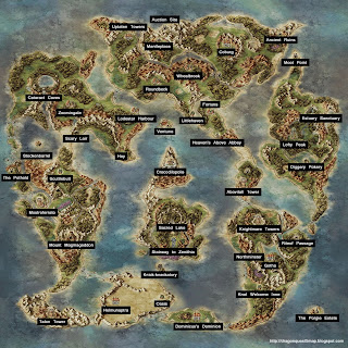 Dragon Quest V World Map