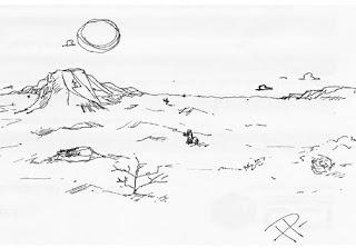 le dessin du mois paysage de desert. Black Bedroom Furniture Sets. Home Design Ideas