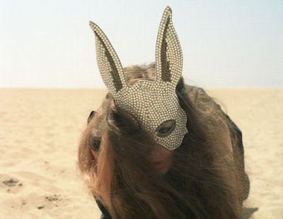 rhinestone rabbit mask, bunny ears, rhinestone studded bunny mask, fashion