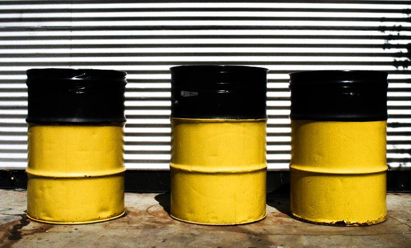 Three yellow barrels; click for previous post