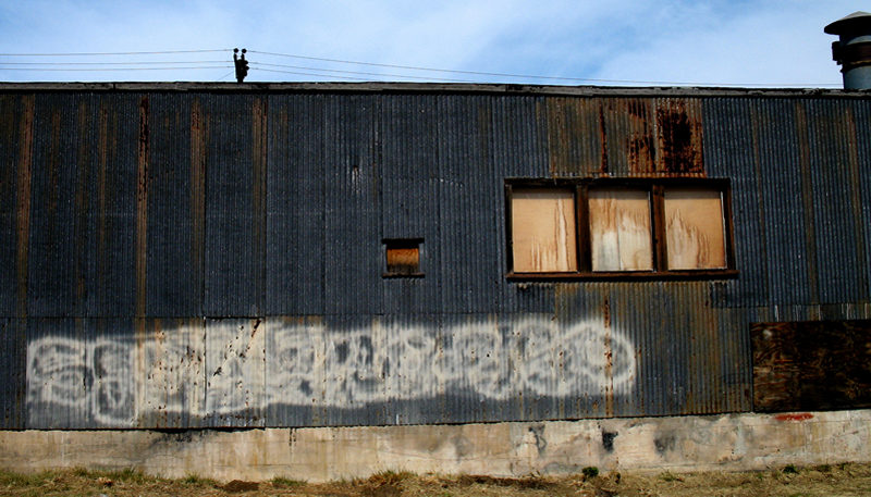 corrugated metal building; click for previous post