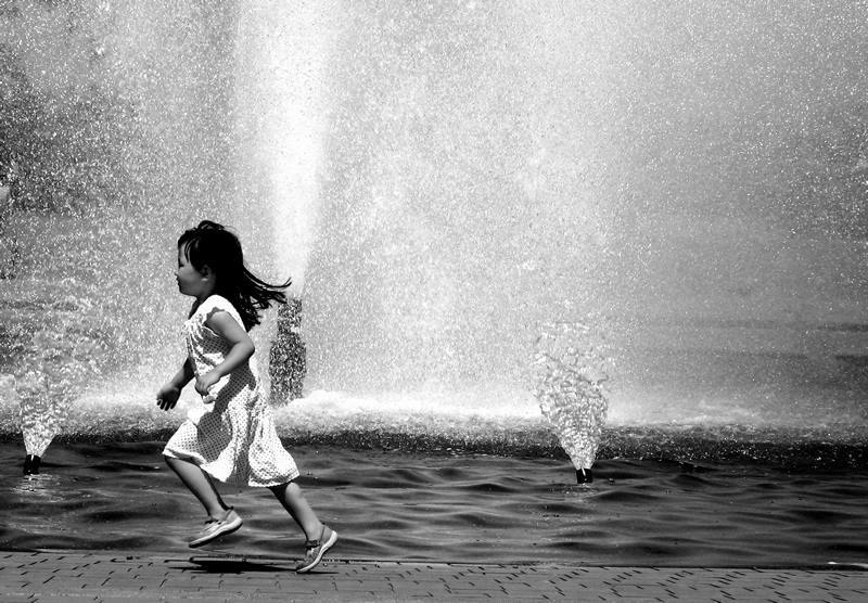 she'll be runnin' 'round the fountain; click for previous post