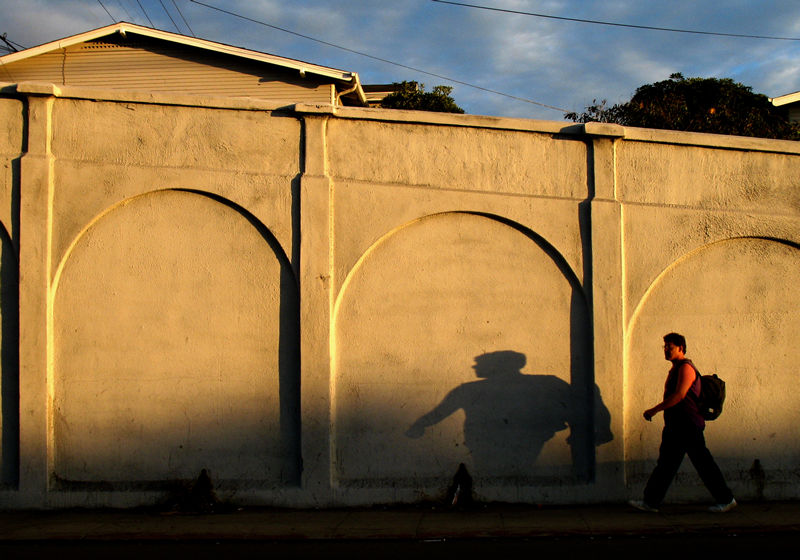 shadow on the wall; click for previous post
