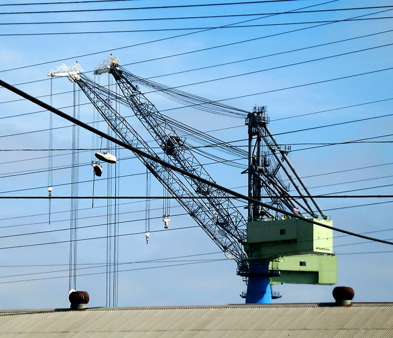 Crane, shoes and power lines; click for previous post