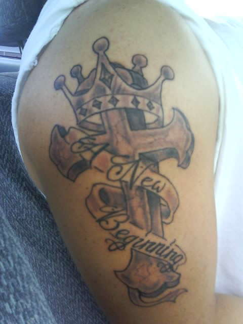 Crown Tattoo Design on Forearm