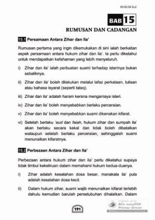 Buku Zihar dan Ila': Bab 15