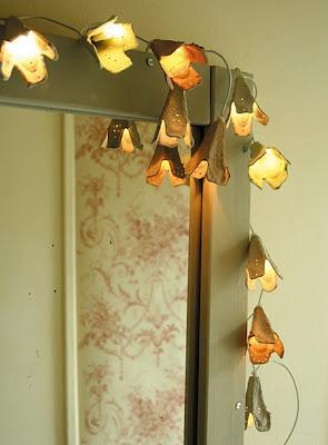luzinhas flores caixa papelão