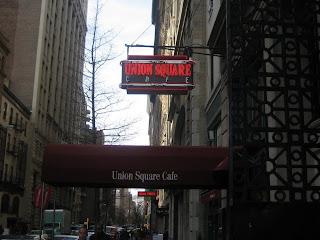 Union Square Cafe Menu Nyc