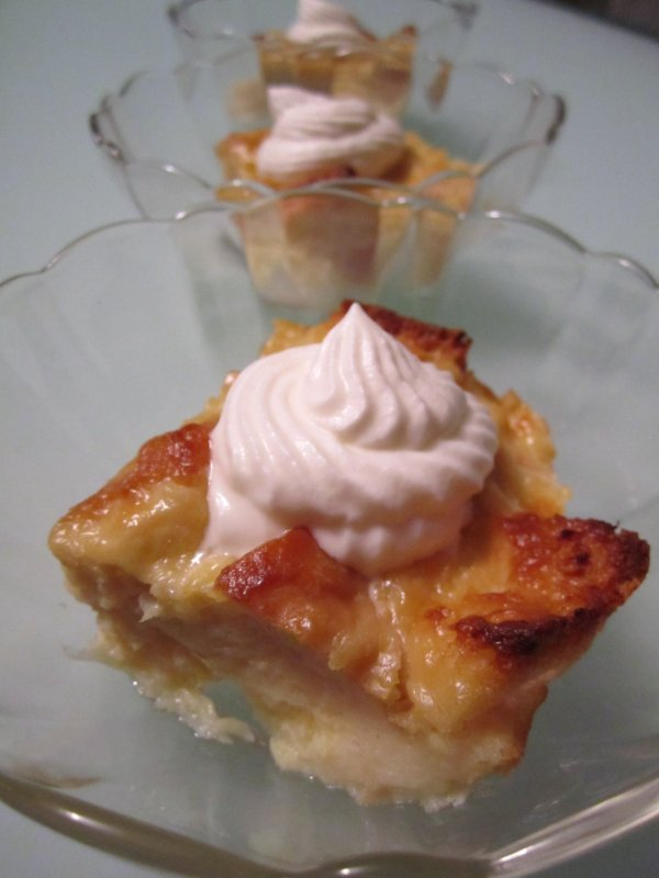 Mission Food Pi 241 A Colada Bread Pudding With Rum Whipped