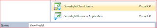 Add Silverlight Class Library project