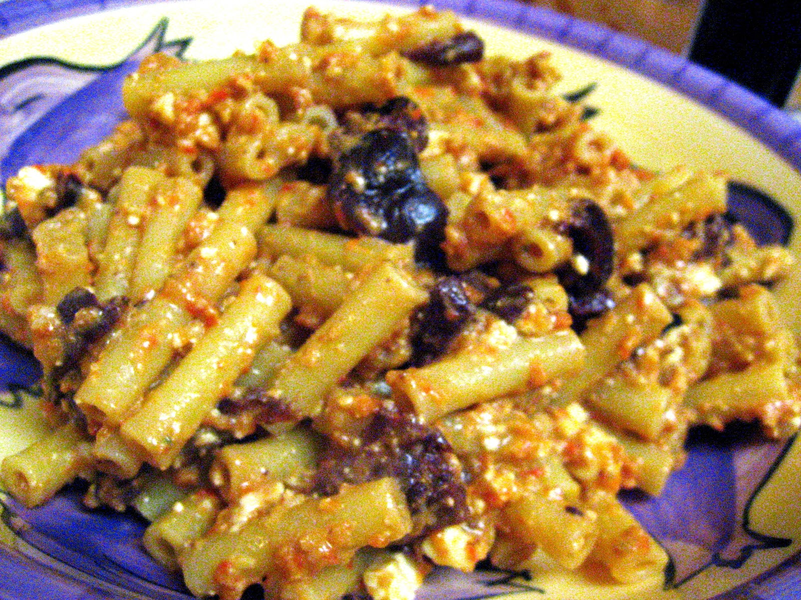 ... Pepper Pesto Pasta With Kalamata Olives And Feta Recipes — Dishmaps